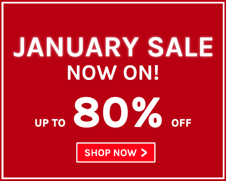 Up To 80% Off! January Sale